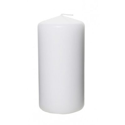 White Pillar Candle 3 x 6 Inch for Weddings, Events and DIY Brides. Wedding Florist in Fairfield, New Jersey