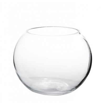 Bubble Ball 6x4 Clear Glass Vase for Weddings, Events and DIY Brides. NJ Wedding Florist