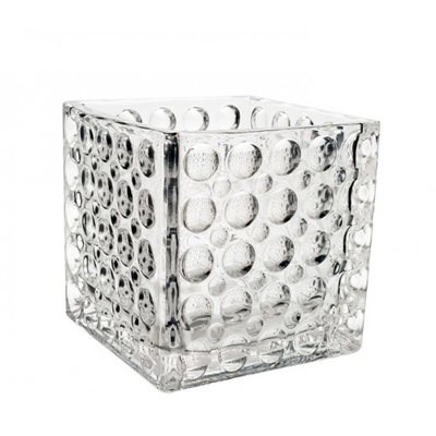 Dimple Cube Vase for Weddings, Events and DIY Brides. Wedding Florist in Fairfield, NJ