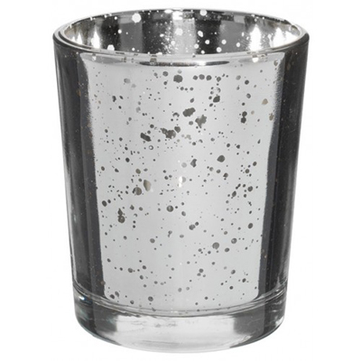 Mercury Votive Glass Unfilled Silver for Weddings, Events and DIY Brides
