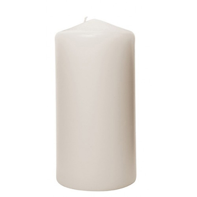 Ivory Pillar Candle 3 x 6 Inch for Weddings, Events and DIY Brides. Wedding Florist in Fairfield, New Jersey 07004