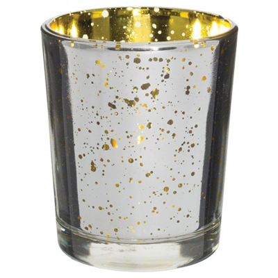 Mercury Votive Glass Unfilled Silver Gold for Weddings, Events and DIY Brides